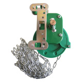 greenhouse film roll up manual winch