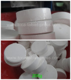 Very beautiful 200g chlorine tablet pressedb by our rotary tablet press
