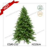 6FT PE+PVC Needle Pine Prelit Artificial Christmas Tree with LED Lights