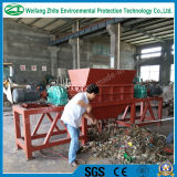Double shaft/plastic/wood /tire/solid waste/metal/mattress foam shredder