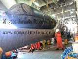 Rubber airbag used for floating pontoon and salvage