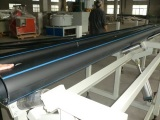 Testing Samples of HDPE Pipe Extrusion Line