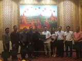 Hanfa president Guang Guo and our engineers visited customers in myanmar and received a warm welcom