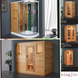 Business of the wooden sauna room