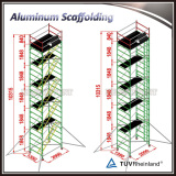 adjustable aluminum mobile scaffolding for construction