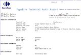 Carrefour Audit