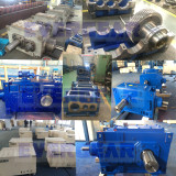 MTH series helical bevel gear industrial gearbox gear unit in production