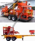 Fuda machinery new design brick machine with trailer