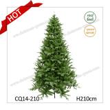 7 Feet Wholesale Artificial Handmade PE+PVC Christmas Tree/Mixed Leaves Christmas Tree