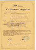 Certificate of Compliance / CE for Siren