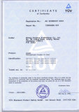 Products Certificate - EN74A