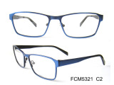 Double colorful stainless steel eyeglasses frame
