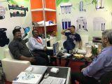 Canton fair with the customer