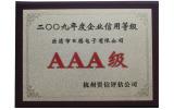 2009 annual enterprise credit grade AAA