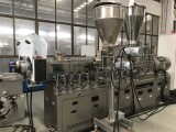 Twin Screw Extruder for PA66&Glass fiber flakes Compounding Pelletizing
