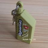 3D soft pvc rubber key holder for promotional