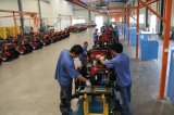 lawn mower assembly line