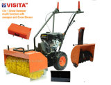 4 in 1 multifunction gasoline sweeper with snow blower