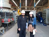 Pakistan customer come to check the iron benefication plant before shipping