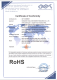 ROHS CERTIFICATE of SOLAR POWER SYSTEM