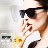 F22014 New Promotion! Black Sunglasses in Stock (China Wholesale Factory)