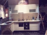 Quartz stone workshop with MDF board highlight kitchen cabinet