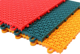 PP interlock colorful waterproof sports court flooring tiles