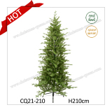 H210cm Kennedy Fir Narrow PE Christmas Tree with Real-Feel and Competitive Price