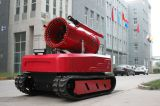 Big powerful fire fighting robot