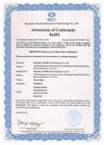 Supplier′s RoHS certificate