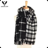 2017 New Style Acrylic Cashmere Double Side Checked Plaid Scarf Women