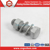 Gr8.8 HDG Hex head bolt and nut