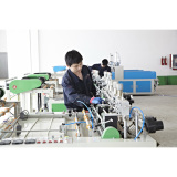hot sealing hot cutting bag making machine workshop