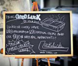 Blackboard with Wooden Easel