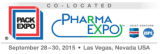 Tecon join the PACK EXPO Las Vegas 2015 co-located with Pharma EXPO 2015 from September 28 - 30