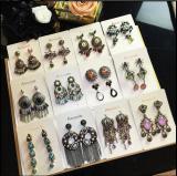 European and American luxury retro ear tassel earrings temperament