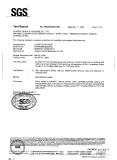 SGS testing report