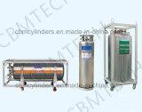 Transportable Cryogenic Liquid Nitrogen/Oxygen/Argon/Carbon Dioxide Dewar Cylinders