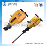 Gasoline rock drilling machine