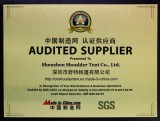 Made in China-SGS Audited Supplier Certificate
