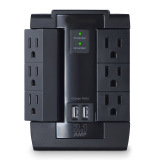 Wall outlet with AC and USB charging ports