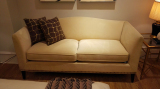 Finished Comfortable Sofa In Showroom