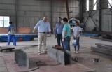 Bahrain client visit our factory for rail wheels