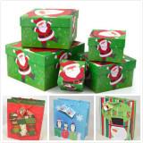 the custom design gift box and bag for Christmas