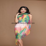 Printed Custom Silk Women Chiffon Silk Scarf