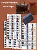 Genuine leather men bags