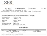 TEMPERED GLASS SGS TEST REPORT