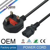 Sipu UK Plug AC Power Cord Electrical Wire Cable