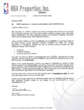 NBA Properties Authorization