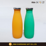 Dairy Glass Milk Bottle with Metal Lid